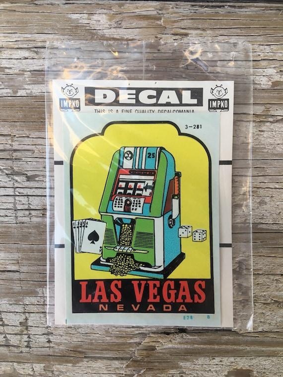 Vintage Las Vegas IMPKO Decal New in Package
