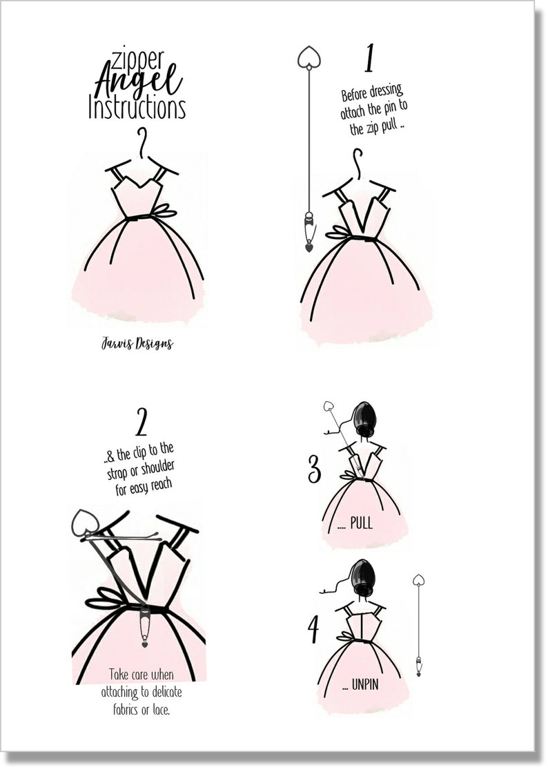 Zip Puller for Back Zip Dresses /& Clothing ZIPPER ANGEL Assistant Dressing Aid