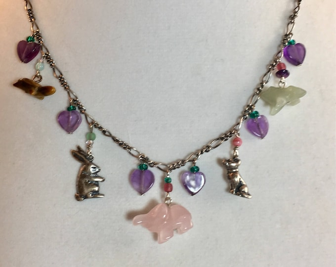 Animal Lover Gift, Gemstone Animal Necklace, Magical Animal Necklace, Fairytale Necklace, Woodland Animal Necklace, Lucy Isaacs