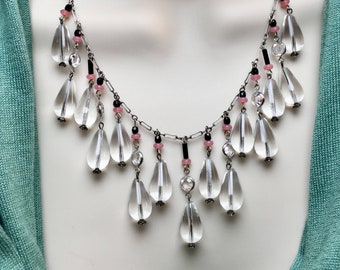Antique Crystal Statement Necklace