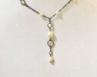 Swarovski Crystal Necklace, Pearl Necklace, Crystal Necklace, Lucy Isaacs