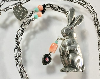 Artisan Sterling Silver Rabbit Necklace