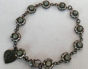 Swarovski Bracelet, Vintage Swarovski Round Crystal Daisy Bracelet by Lucy Isaacs