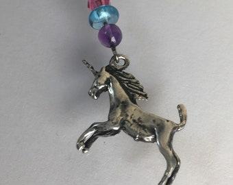 Unicorn Charm Necklace, Sterling Unicorn, Vintage Unicorn, Gift for girls, Vintage Solid Sterling Silver Magic Unicorn Necklace Lucy Isaacs