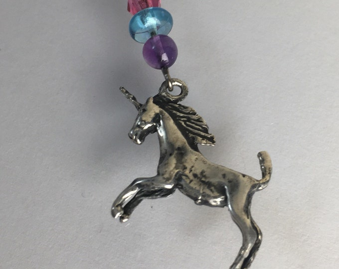 Unicorn Charm Necklace, Sterling Unicorn, Vintage Unicorn, Gift for girls, Vintage Solid Sterling Silver Magic Unicorn Necklace Lucy Isaacs