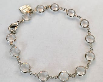 Swarovski Crystal Bracelet Choose Your Size Vintage Swarovski Crystal Clear Bracelet by Lucy Isaacs