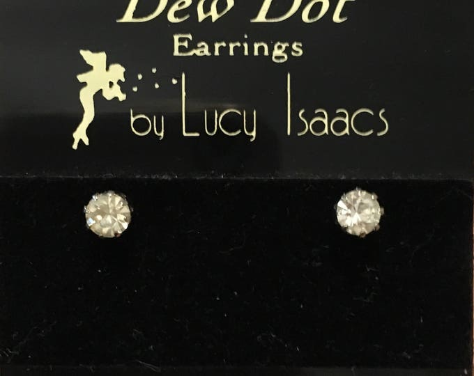 Austrian Crystal Stud Earrings 4mm by Lucy Isaacs