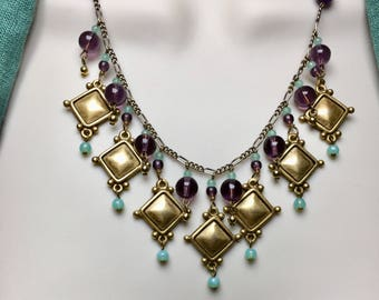 Gold Etruscan Style Necklace