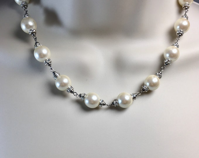 Swarovski Crystal and Pearl  Choker