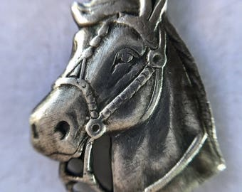 Vintage Sterling Silver Horse Charm, Horse Necklace, Riding Accessories, Western Jewelry, Equestrian Necklace, Horse Apparel  by Lucy Isaacs