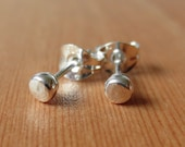 Silver tiny hammered stud...