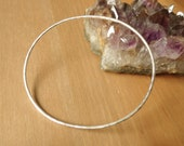 Oval bangle, Sterling Sil...