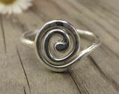 Sterling Silver Spiral Ri...