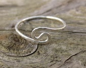 Silver wave ring, simple ...
