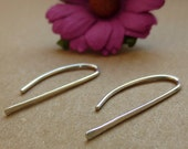Silver bar earrings, silv...