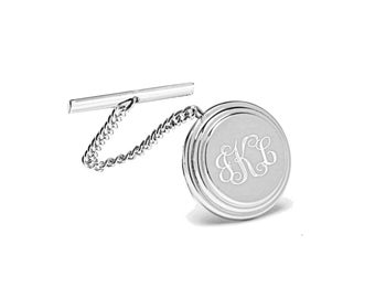 7548723a6e79 Personalized Tie Tack, Engraved Tie Pin, Monogrammed Tie Pin, Silver Tie Pin,  Tie Clip, Wedding Favors, Groomsmen Gifts - Buy 6 Get 7th Free