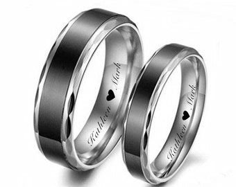 His And Hers Rings Etsy