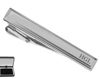4ae68e8aa9db Personalized Tie Clip, Silver Tie Clip, Engraved Tie Clip, Custom Tie Clip, Tie  Bar, Groomsmen Gift, Gifts For Men, Buy 6 Get 7th Free