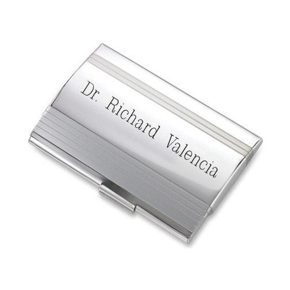 Personalize Free Custom Engraving Credit Card Business Card Holder Card Case Black