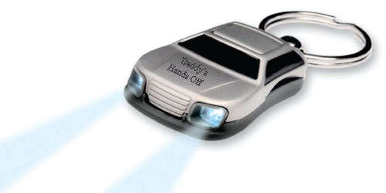 Personalized Car Flashlight Keychain Custom Engraved Free