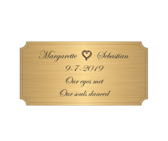 Brass Engraved Plaque Engraving in Solid Brass