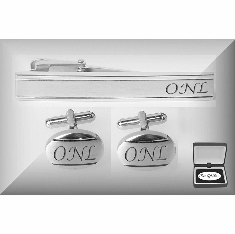 Engraved Cufflinks, Personalized Tie Clips, Monogrammed Cufflink & Tie Clip  Set, Engraved Tie Clips, Wedding Gift - Buy 6 Get 7th Free