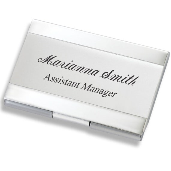 6 METAL SILVER TONE  ID CREDIT CARD OR BUSINESS CARD HOLDERS