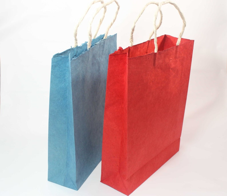 Handmade Paper Gift Bag Thick Paper Lokta Paper Eco Friendly Etsy