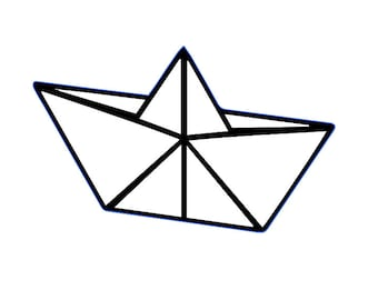 Origami Paper Boat Outline Or Airplane Outlines Vinyl Decal Car Tumbler Phone