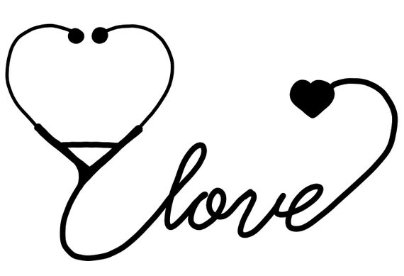 Love Stethoscope Nurse Doctor Veterinarian Vet Tech SVG | Etsy Doctor Stethoscope Graphic