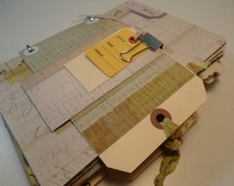 JUNK JOURNAL- Over 85 Pages & Items-Handmade Journal-Ephemera-Paper Pack-Smash Journal-Art Journal-Travel Journal