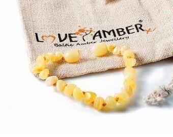 b653d479beb Poli Bracelet de cheville caramel d ambre Baltique