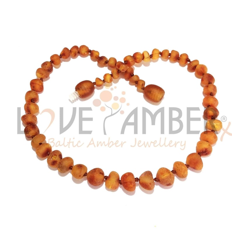 c22eb10d795c5 Amber Necklace Jewelry & Baby Teething Store, Raw Baltic Amber, Genuine,  Love Amber, Child, Cocoa, Unpolished, Cognac, Safety Knotted, Gift
