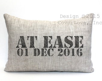 """military retirement gift, military gift, at ease pillow, navy gift, army gift, air force gift - """"At Ease"""""""