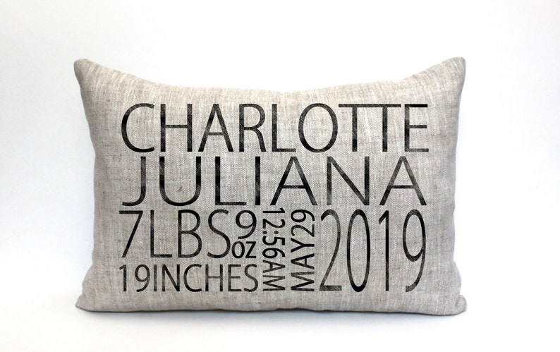baby gift baby pillow baby shower gift child's name image 1