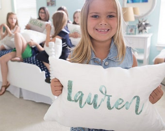 """name pillow, personalized pillow, baby gift, baby pillow, baby shower gift, birthday gift - """"The Lauren"""""""