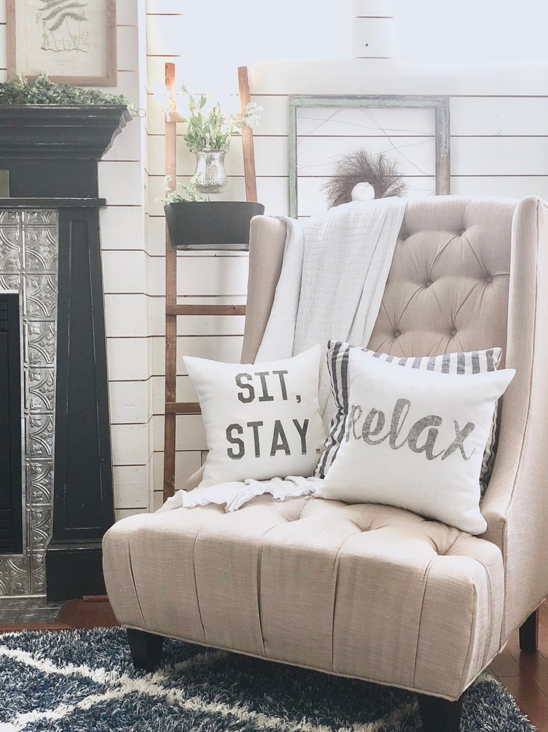sit stay pillow housewarming gift wedding gift apartment image 0