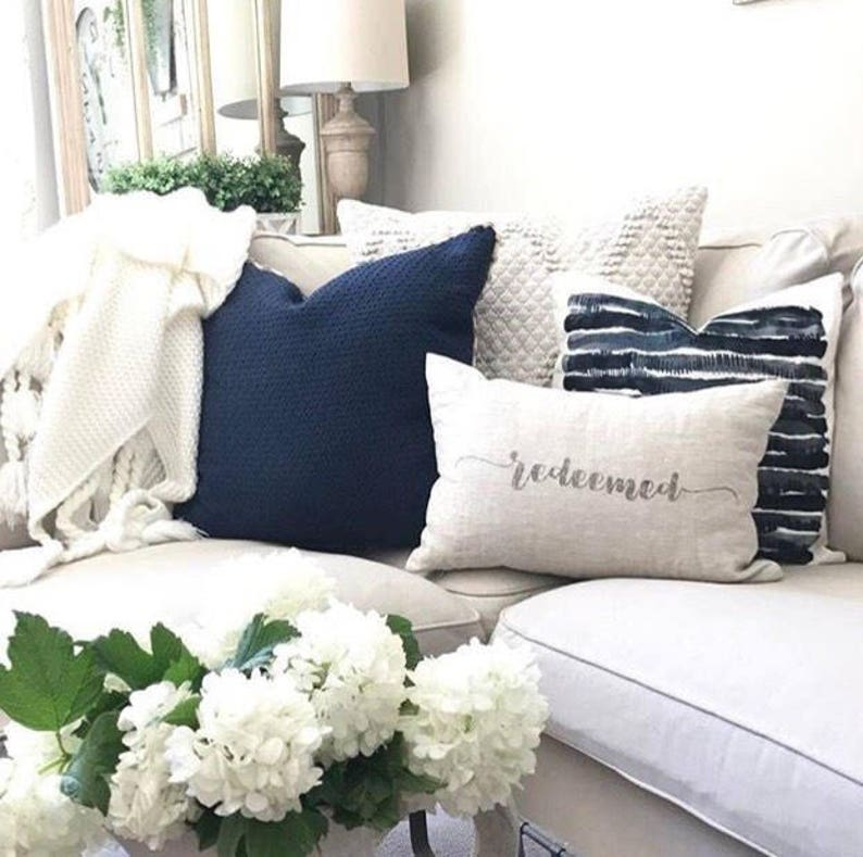redeemed pillow housewarming gift farmhouse pillow new home image 0