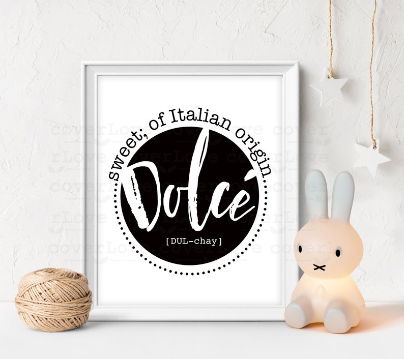 Baby Gift Name Definition Download Personalized Gift Digital Download Nursery Decor Nursery Print Baby Shower Gift Dolce