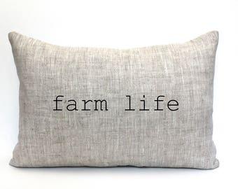"farm life pillow, housewarming gift, wedding gift, farm pillow, christmas gift  ""the farm life"""