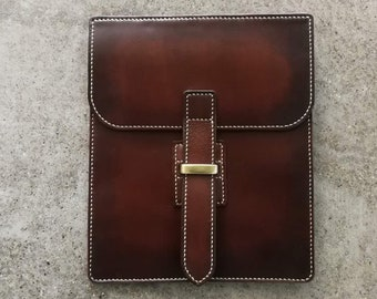 Hand stitched iPad PRO Leather Case - sleeve --cover