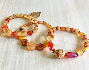 Sienna Spice Agate Pendant Necklace ~ Gemstone Bead Necklace ~ Tiger Eye ~ Amber ~ Mothers Day ~ Mom Gift ~ Best Friend Gift ~ WestportCharm