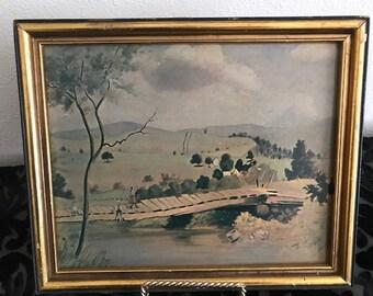 Vintage Frame and Art work