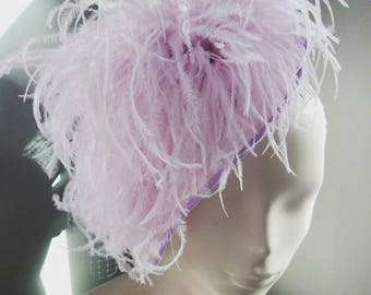 Womens Feathers Saucer Hat Royal Ascot Racing Wedding