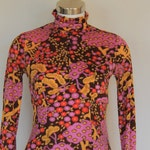 bright 60's floral mini dress