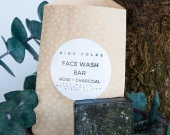 Rosehip + Charcoal Face Wash Bar
