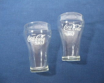 Pair of Original Vintage Coca-Cola Glasses