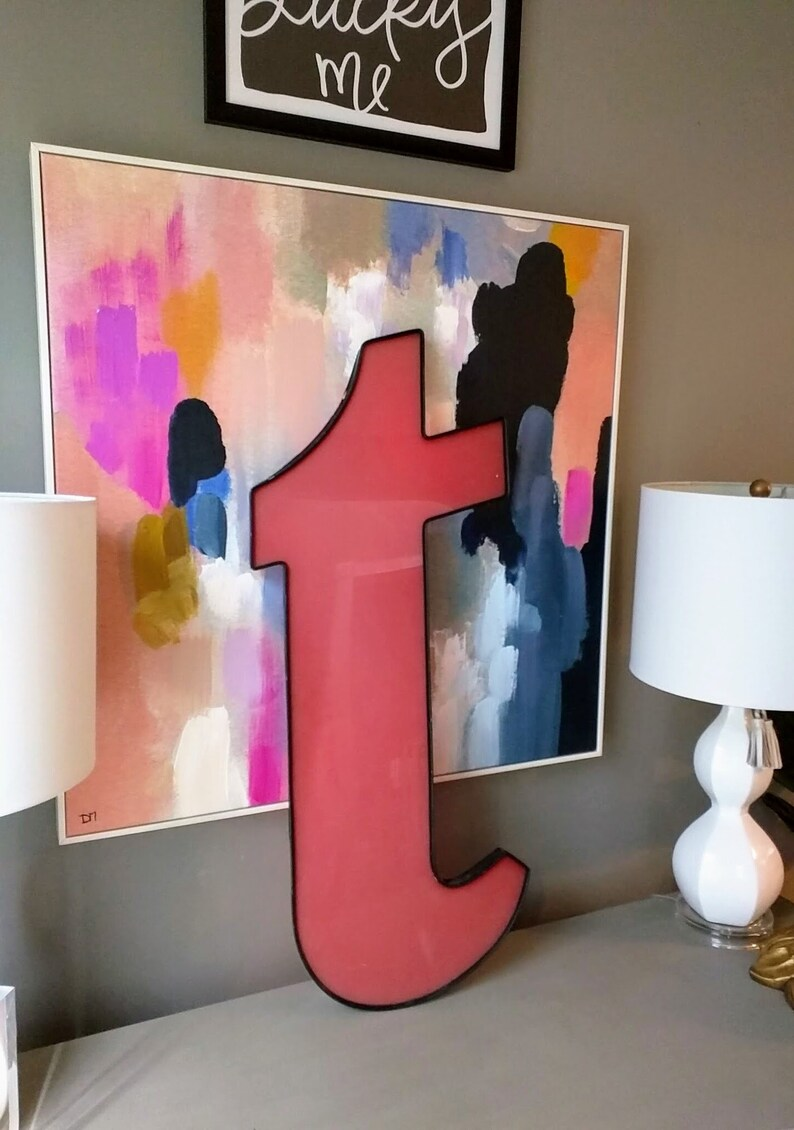 Vintage Extra Large Letter T Industrial Decor Large image 0