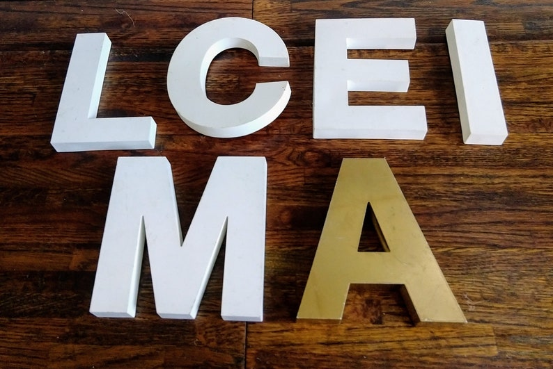 Vintage Industrial Salvage Collection of Six Letters image 0