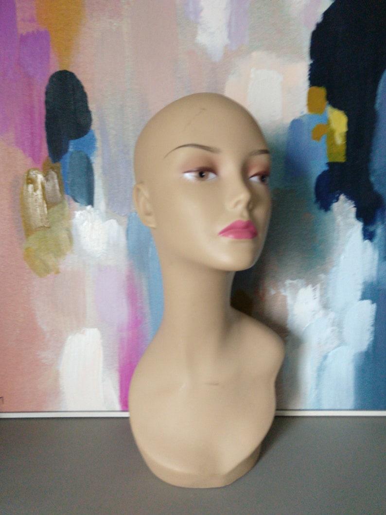 Vintage Mannequin Head  Wig Display image 0